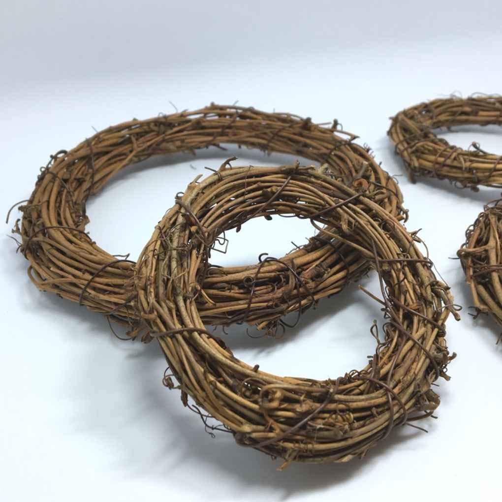 Zerama 1PCS Naturale essiccato Rattan Corona di Natale della casa della Ghirlanda per Parete Fai da Te Corona Bella
