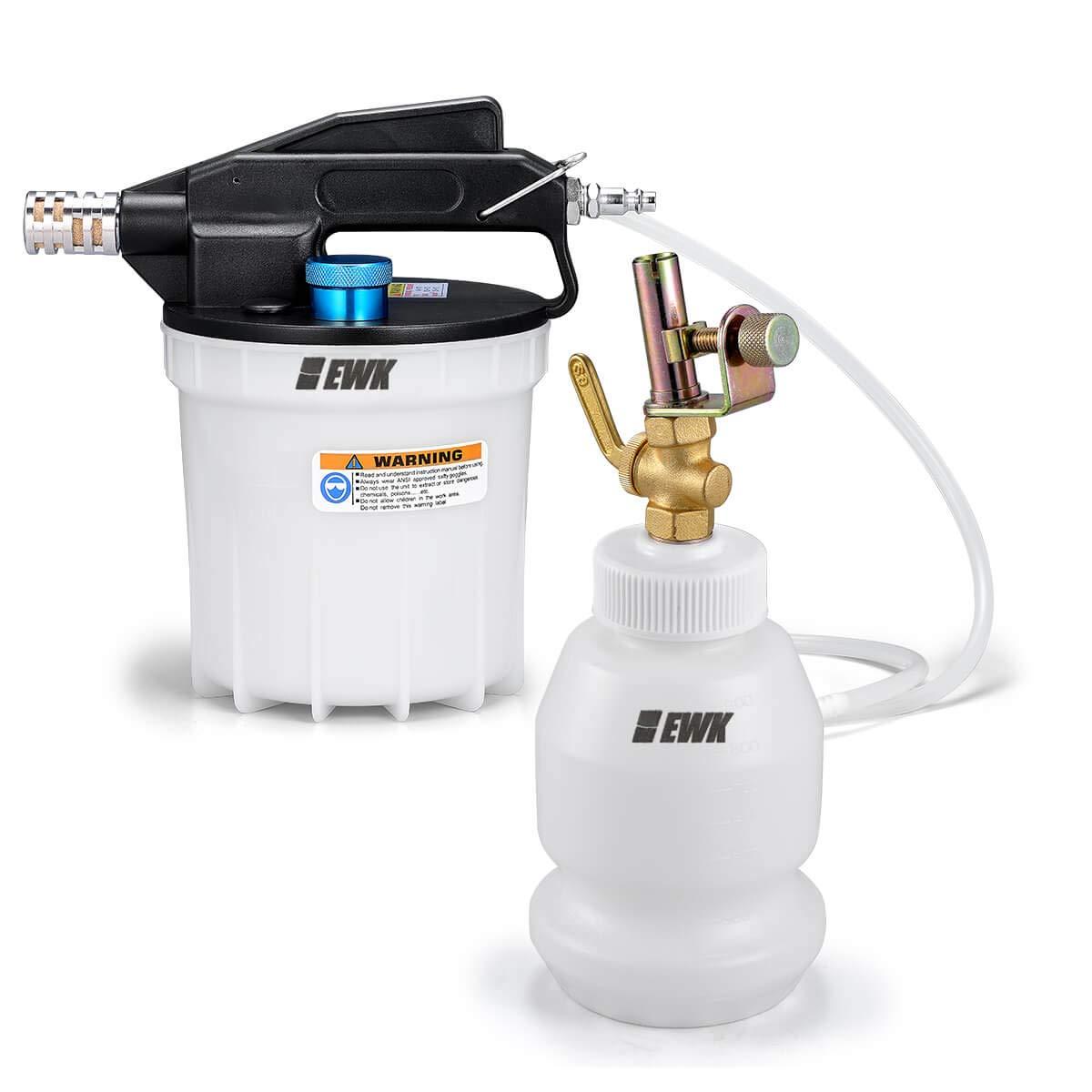 EWK 2L Pneumatic Air Vacuum Brake Fluid Bleeder Extractor Pump & 1L Auto-Refill Flush Filling Bottle