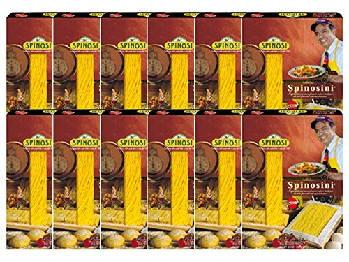 Spinosini 2000 Egg Pasta with Omega 3 by Spinosi (Case of 12 - 8.8 Ounce Packages)