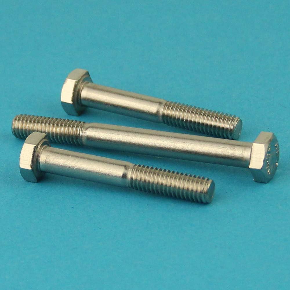 Gewindeschrauben Eisenwaren2000 ISO 4014 M6 x 75 mm Sechskantschrauben mit Schaft - DIN 931 Maschinenschrauben mit Teilgewinde 5 St/ück Edelstahl A2 V2A rostfrei