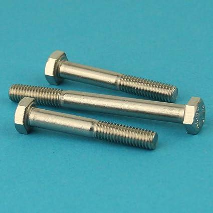 - DIN 931 Eisenwaren2000 10 St/ück Edelstahl A2 V2A rostfrei Maschinenschrauben mit Teilgewinde M10 x 200 mm Sechskantschrauben mit Schaft Gewindeschrauben ISO 4014