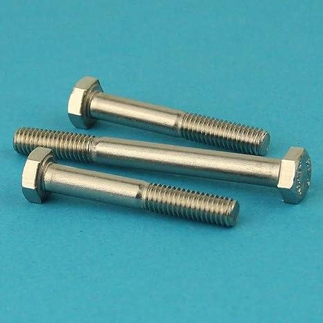 ISO 4014 Eisenwaren2000 40 St/ück Maschinenschrauben mit Teilgewinde rostfrei M5 x 100 mm Sechskantschrauben mit Schaft - DIN 931 Gewindeschrauben Edelstahl A2 V2A
