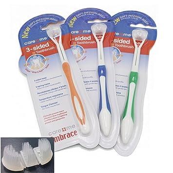 Amazon.com: 3 x tres lados cepillo para polvo de dientes ...