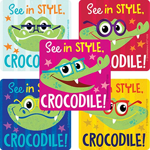 SmileMakers Stylish Crocodile Vision Stickers - Prizes 100 per Pack -