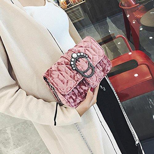 Widewing Bolso Invierno De Color Rosa De Pequeño Mano De Pleuche Mini Mujeres Bolso Bolsa Crossbody Hombro rER7nrq