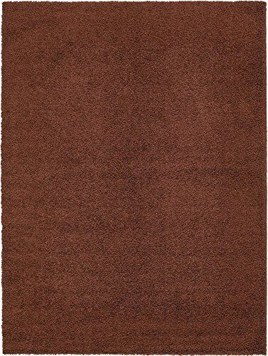 Unique Loom Solo Solid Shag Collection Modern Plush Chocolate Brown Area Rug (9' 0 x 12' 0) ()
