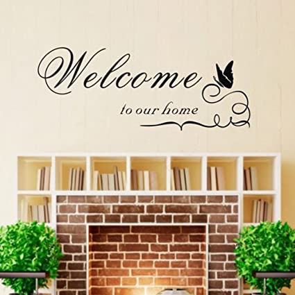 Amazon.com: TRURENDI Welcome to Our Home Wall Quote Sticker Decal ...
