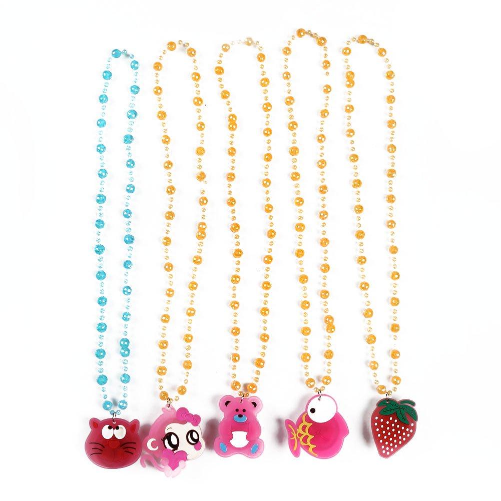 Rokoo 12Pcs / set niños Toy LED collares niños niños niña regalos luminosos muñeco de nieve árbol de Navidad Santa Claus collar al azar Co: Amazon.es: ...