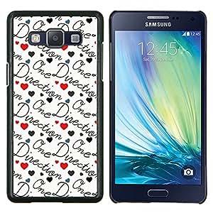 EJOOY---Cubierta de la caja de protección para la piel dura ** Samsung Galaxy A5 A5000 ** --banda de la dirección del texto amor grupo de música