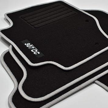 Mattenprofis Velours Logo Fußmatten Passend Für Peugeot 307 Cc Ab Bj 10 2001 2009 Silber Auto