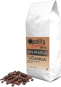 ☕ Café en grano natural. 100% Arabica. Origen único Uganda, 1kg. Tostado artesanal.: Amazon.es: Alimentación y bebidas