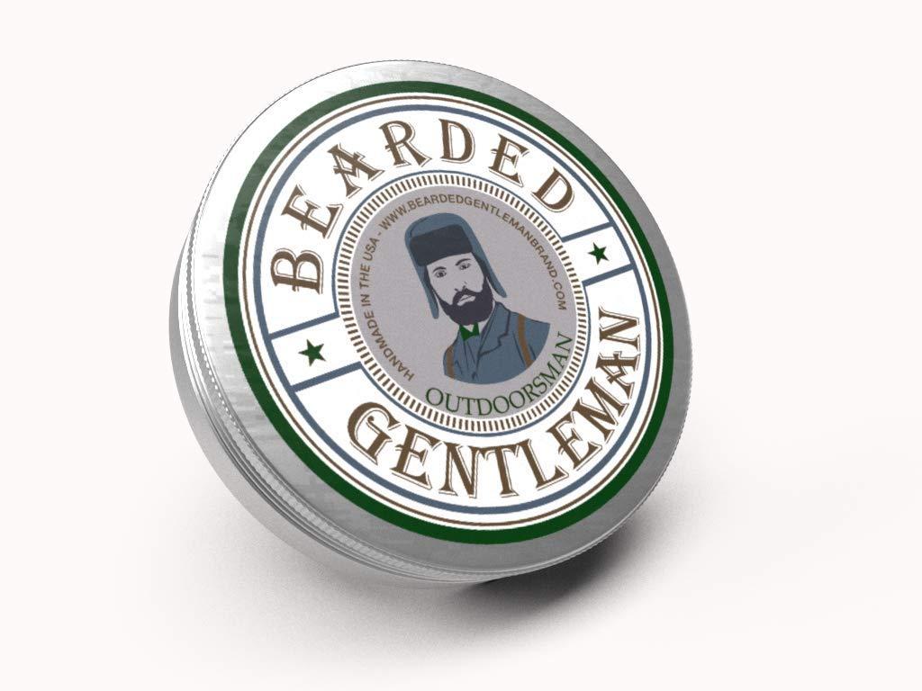 Bearded Gentleman Brand - Beard Balm - Outdoorsman - Cedar & Fir & Pine - 2 Oz - Small Batch - Handmade in the USA