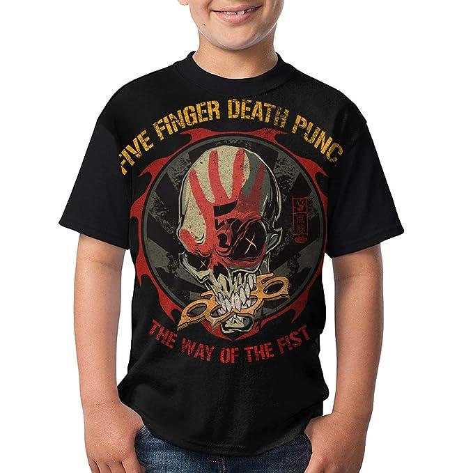 Kina D Wilson Five Finger Death Punch T Shirt Youth Boy Shirt Round Neck Short Sleeve Tees