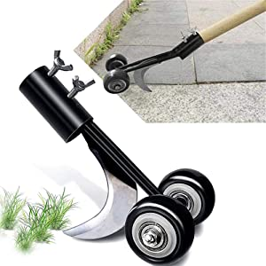 Weed Puller Tool with Wheels, Stand Up Weeding Tools for Garden Patio Backyard Lawn Sidewalk Driveways Weeds (1)