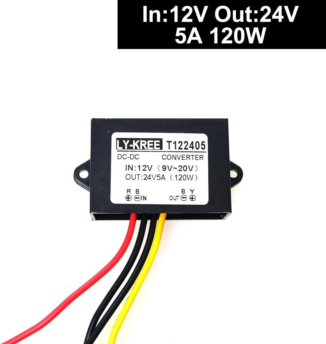 DC 9-20V 12v Step up to 24v Converter Regulator 5A 120W Power Supply Adapter
