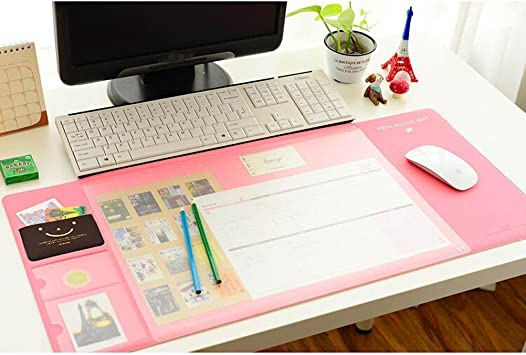 1pc Laptop Pad Non-Slip Rubber Desk Pad Mouse Mat for Home Computer Pink
