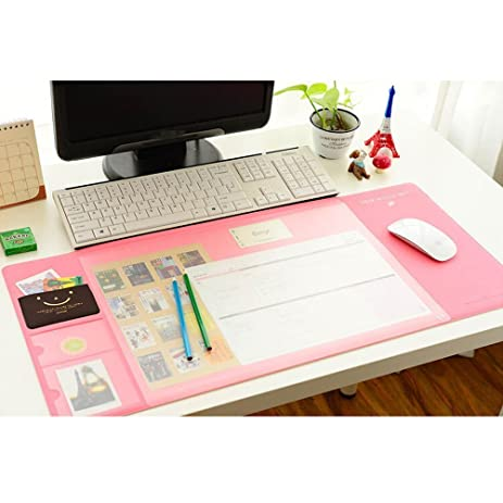 Large Mouse Pad U2014 Multi Function Desk Mouse Mat Pink Waterproof Office Desk  Protector Mat