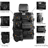 Seat Cover Case fit Jeep Wrangler Unlimited CJ YJ Cherokee Rubicon Ford F150 Ridgeline Seat Protector with Multiple Pockets Heavy Duty Seat Back Car Organizer Storage Muti Pocket Holder
