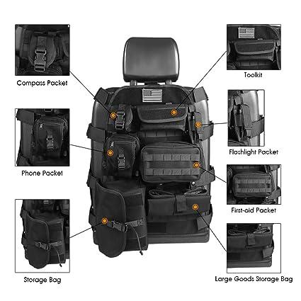 19422558c1 SUNPIE Universal Seat Cover Case with Organizer Storage Muti Pocket fit Jeep  Wrangler Unlimited CJ YJ