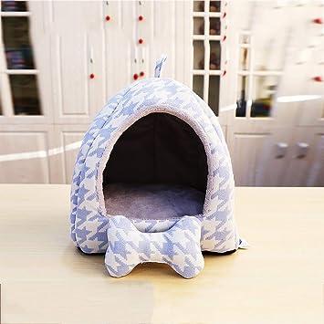 Nido para Mascotas, Tela Oxford y casa de yurta de algodón/Perro PP, un Nido Desmontable y Lavable de Doble Uso, cálido en Invierno: Amazon.es: Hogar