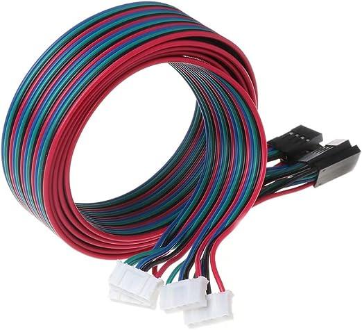 BIlinli 4 unids 100 cm 4pin Cables del Motor Paso a Paso XH2.54 ...