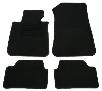 Amazon.es: AD Tuning GmbH hg10228 Terciopelo Ajuste Soporte Negro Auto Juego de Alfombrillas para alfombras Alfombras Carpet Floor Mats