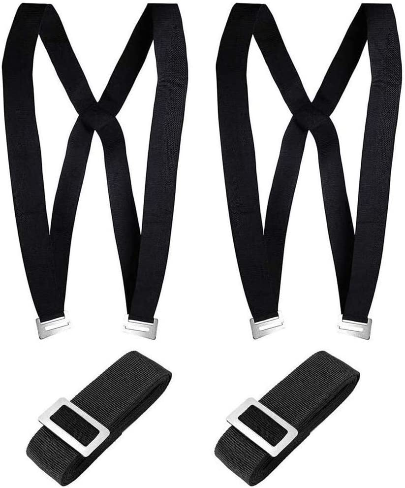 Upgraded Furniture Moving Straps Easy Carry Appliances Shoulder Belts, Carrying Straps For Any Heavy Object 2 Person (Black)