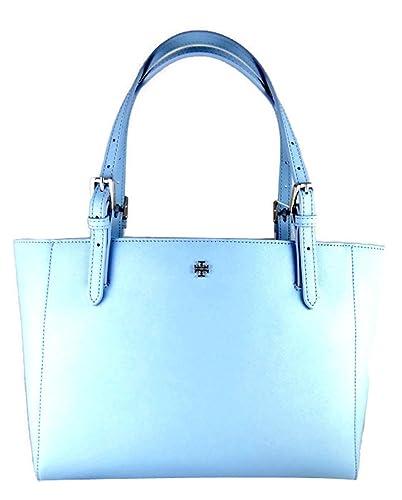888f8e1ea7c Amazon.com  Tory Burch Fairview Blue Leather Saffiano York Buckle Tote  Handbag  Shoes