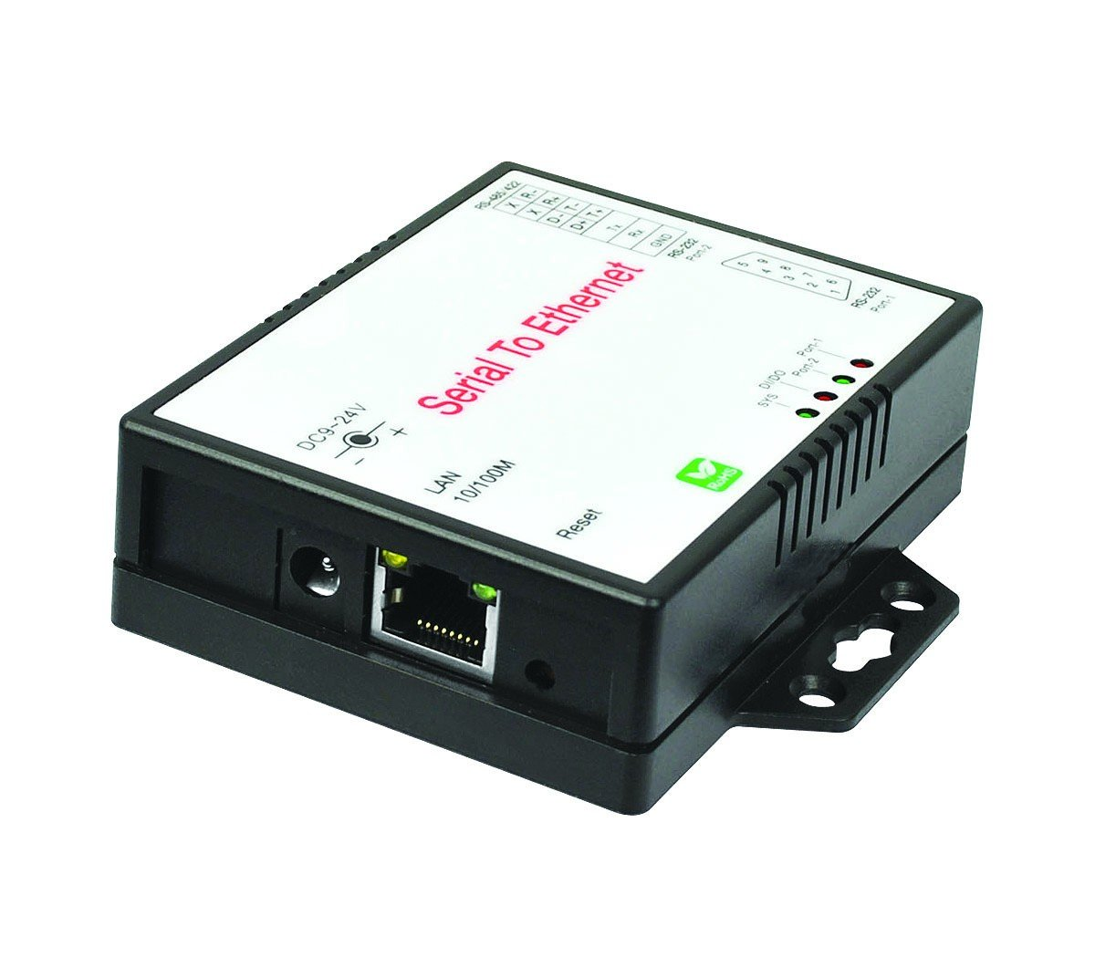SIIG 2-Port RS-232/422/485 Serial over IP Ethernet Device Server