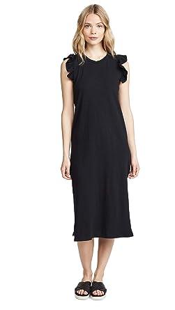 46a901a1d3aaa Amazon.com: SUNDRY Women's Ruffled Midi Dress: Clothing