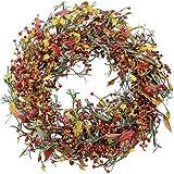 The Wreath Depot Appalachia Berry Silk Fall Door Wreath, 22 inch