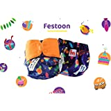 Superbottoms Plus UNO Reusable Cloth Diaper with 2 Organic Cotton Inserts, One Size, Purple Love