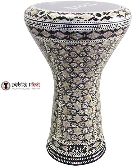 new gawharet el fan classic 17 mother of pearl darbuka drum percussion atlas