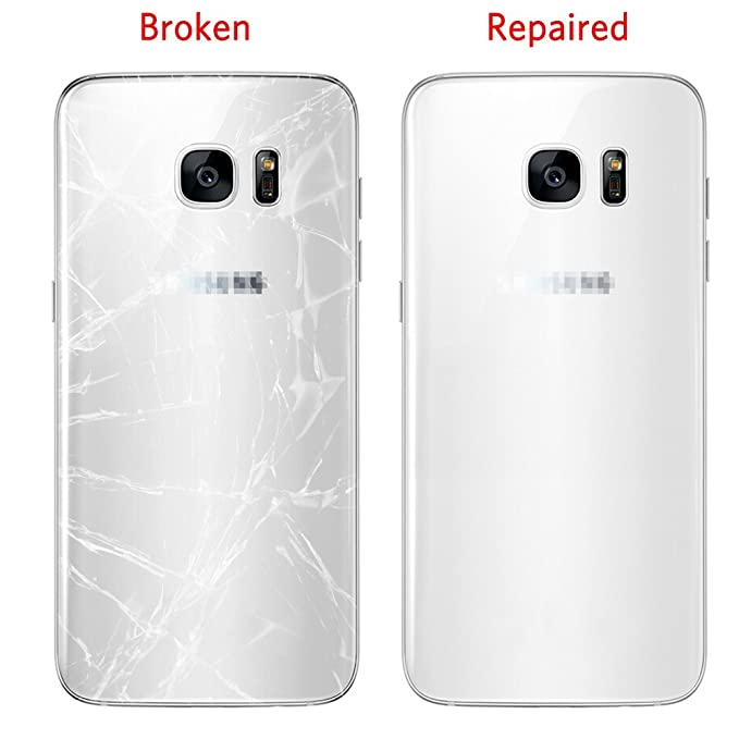 Amazon.com: Back Glass Cover Battery Door Replacement For Samsung Galaxy S7 edge G935,CrazyFire Back Glass Cover Housing Cover for Galzxy S7 edge with ...