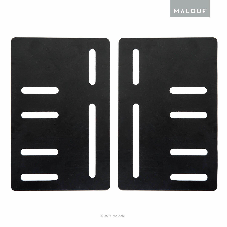 MALOUF STRUCTURES Bed Frame Headboard Bracket Modification Plate Vertical Modi, Set of 2