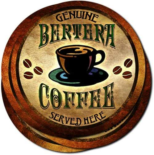 Bertera Coffee Neoprene Rubber Drink Coasters - Set of 4