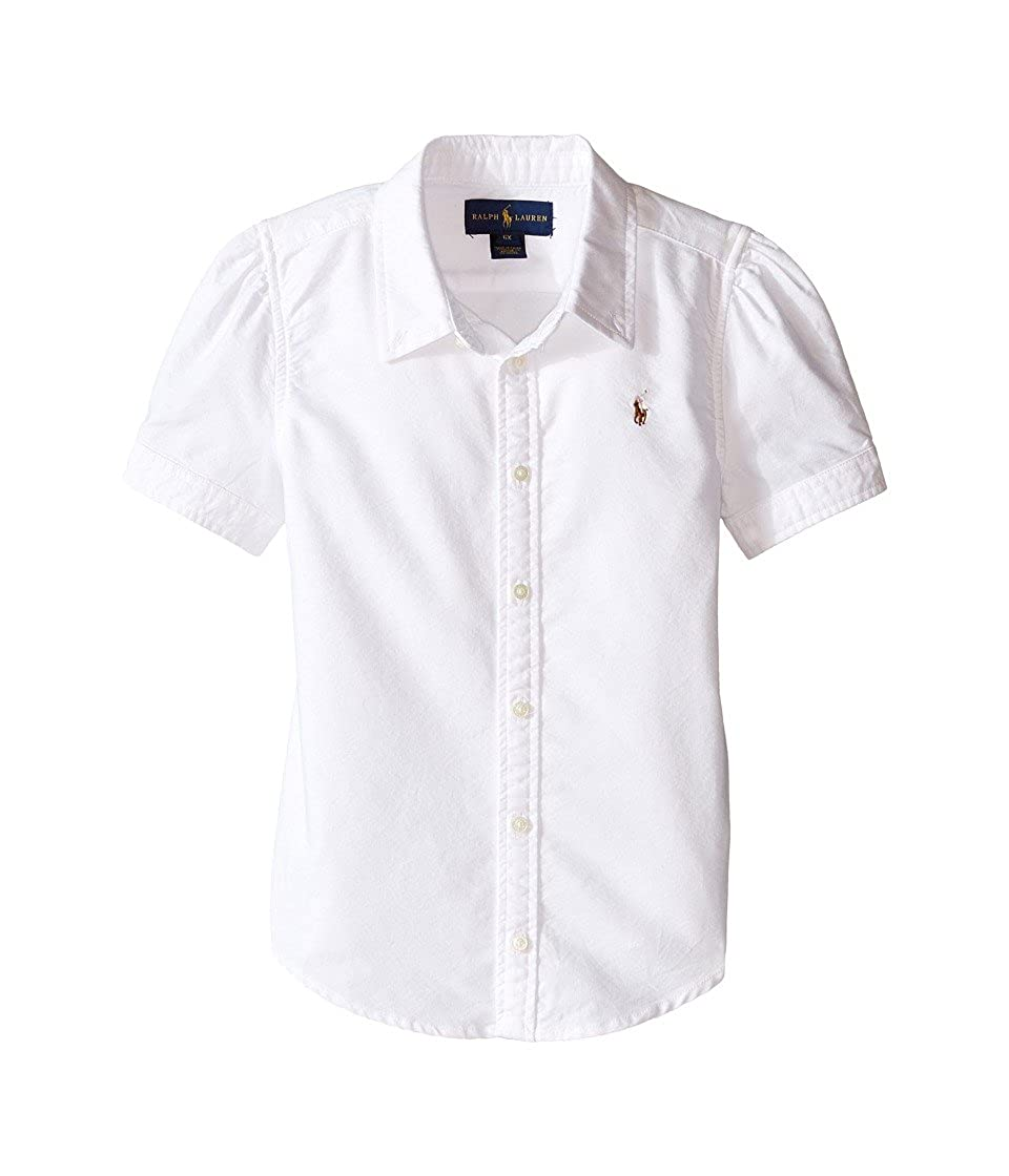 RALPH LAUREN Polo Girls Oxford Short Sleeve Shirt