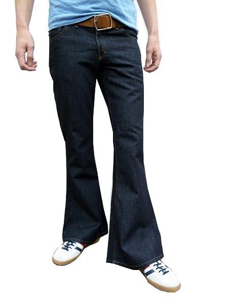 Hombres Vaqueros Campana Estilo Vintage Retro Pantalones ...