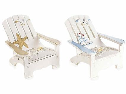 Sedie In Legno Colorate : 6 sedia da mare decorativa in legno colorato c deco in rilievo