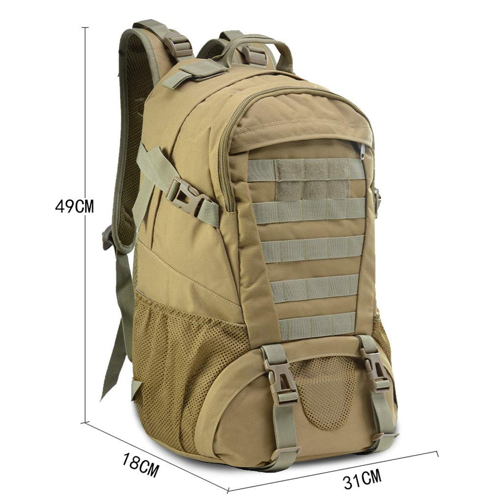 Military Tactical Backpack - 45L Outdoor Waterproof Backpack, Adjustable & Removable Chest Belt and Hip Belt Trekking Backpack, for Camping, Hiking, Trekking (♥ C) by Hisoul (Image #6)