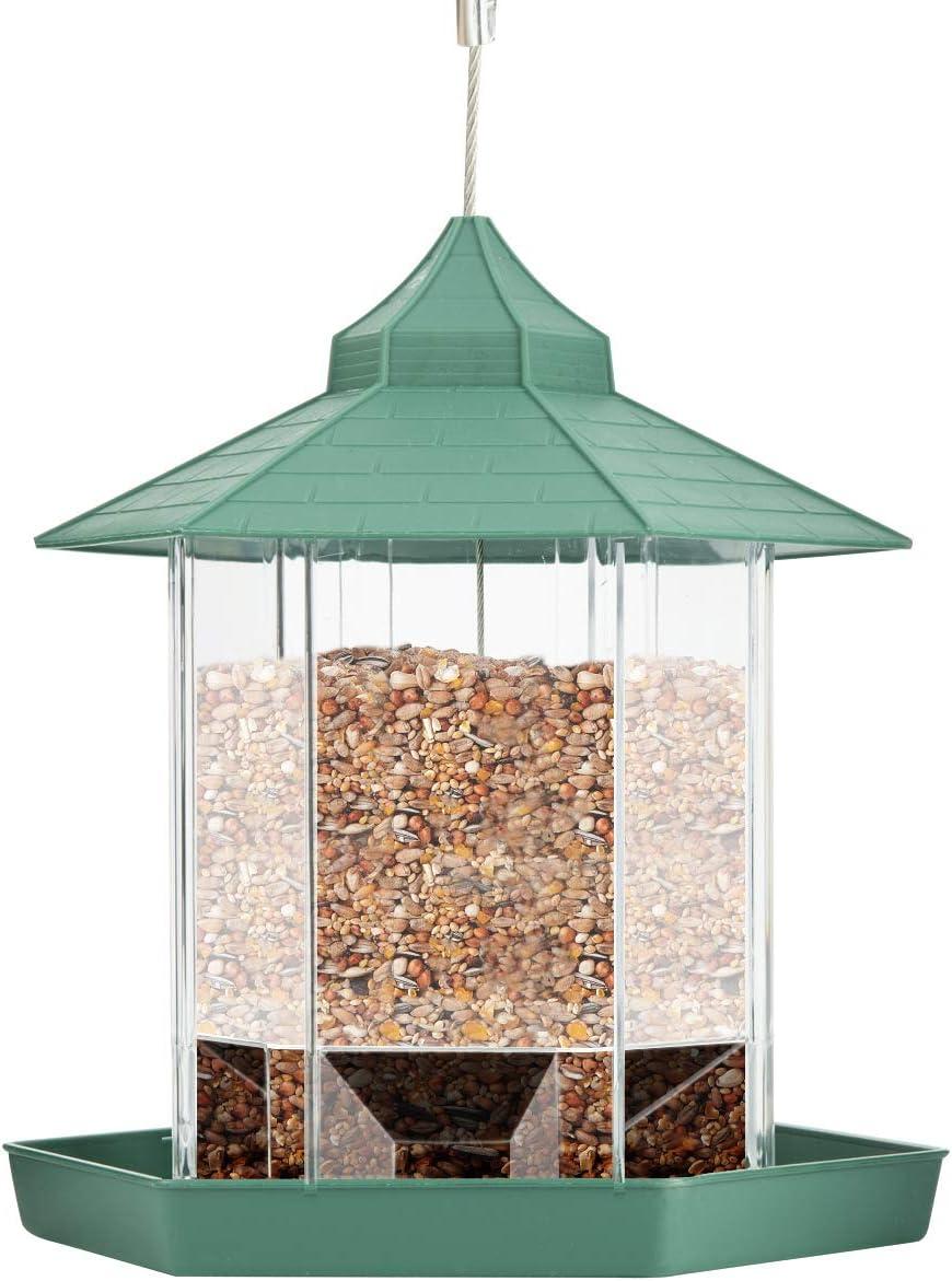DaMohony Comedero para pájaros, de plástico, para colgar en el jardín, patio trasero