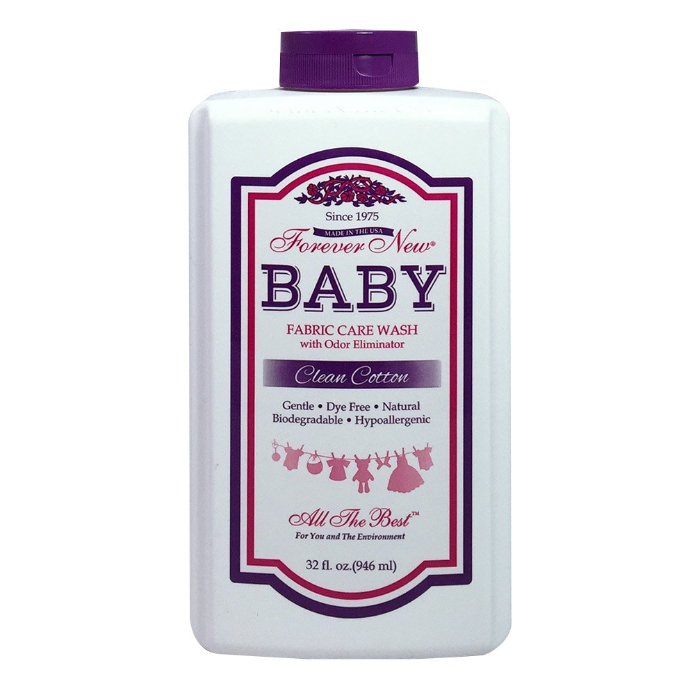 Forever New 32oz Baby Liquid Clean Cotton Scent Fabric Care Wash