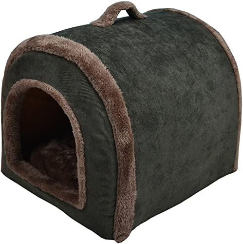 Nadalan Cave Shape Soft Pet Tent Room House Bed Kennel Hut for Dog Puppy Cats Kitty