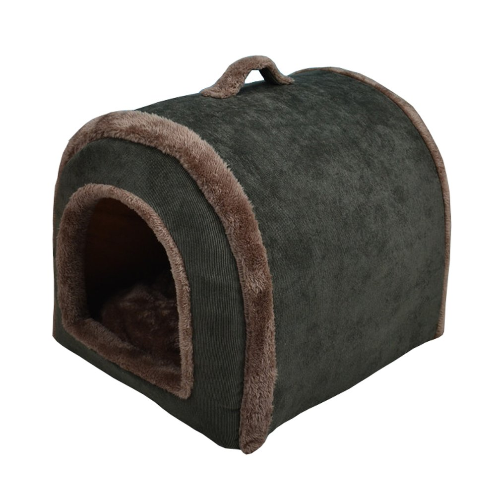 S Nadalan Cave Shape Soft Pet Tent Room House Bed Kennel Hut for Dog Puppy Cats Kitty (S)