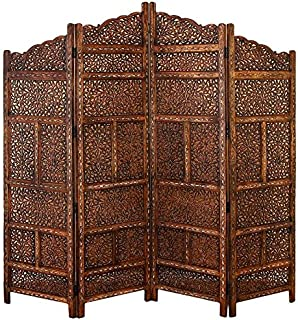 Amazoncom Chitra Antique Pewter 4 Panel Handcrafted Wood Room