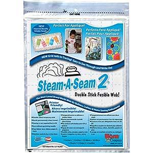 "Warm Company Steam-A-Seam 2 Double Stick Fusible Web-9""X12"" Sheets 5/Pkg"