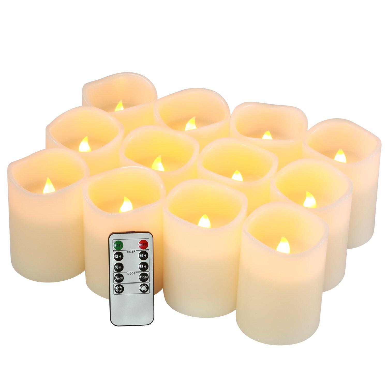 Flameless CandlesちらつきLEDキャンドルのセット12 (D : 3