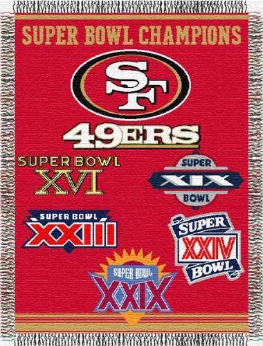 Northwest NFL San Francisco 49ers 5 Time Super Bowl Champions 48