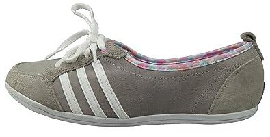 adidas Piona Sneaker Schuhe Damen Leder grau: