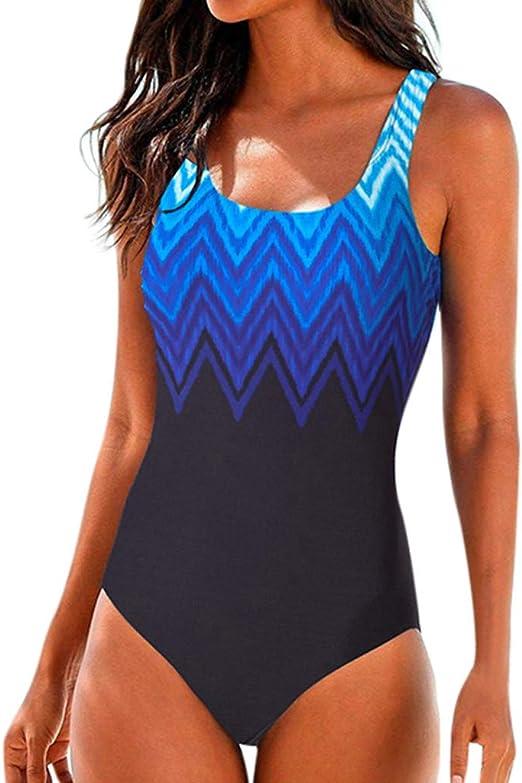 RQWEIN Womens Conservative Athletic Racerback One Piece Training Swimsuit Swimwear Bathing Suit